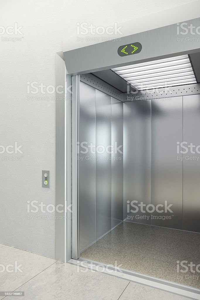 modern elevator royalty-free stock photo