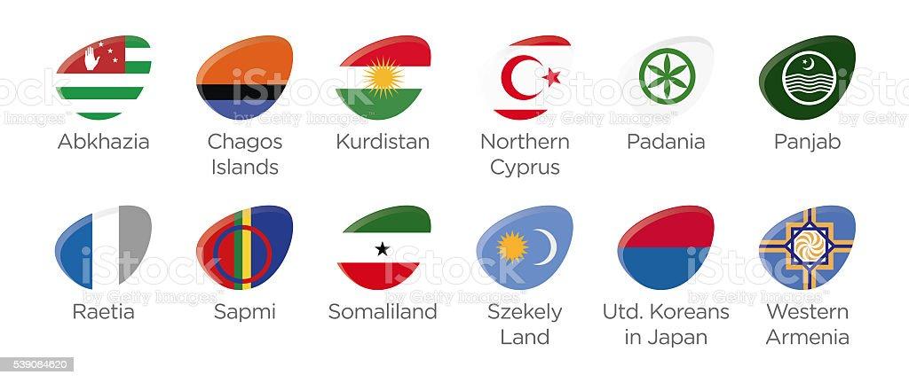 Modern ellipse icon symbols for soccer tournament of abkhazia 2016 stock photo