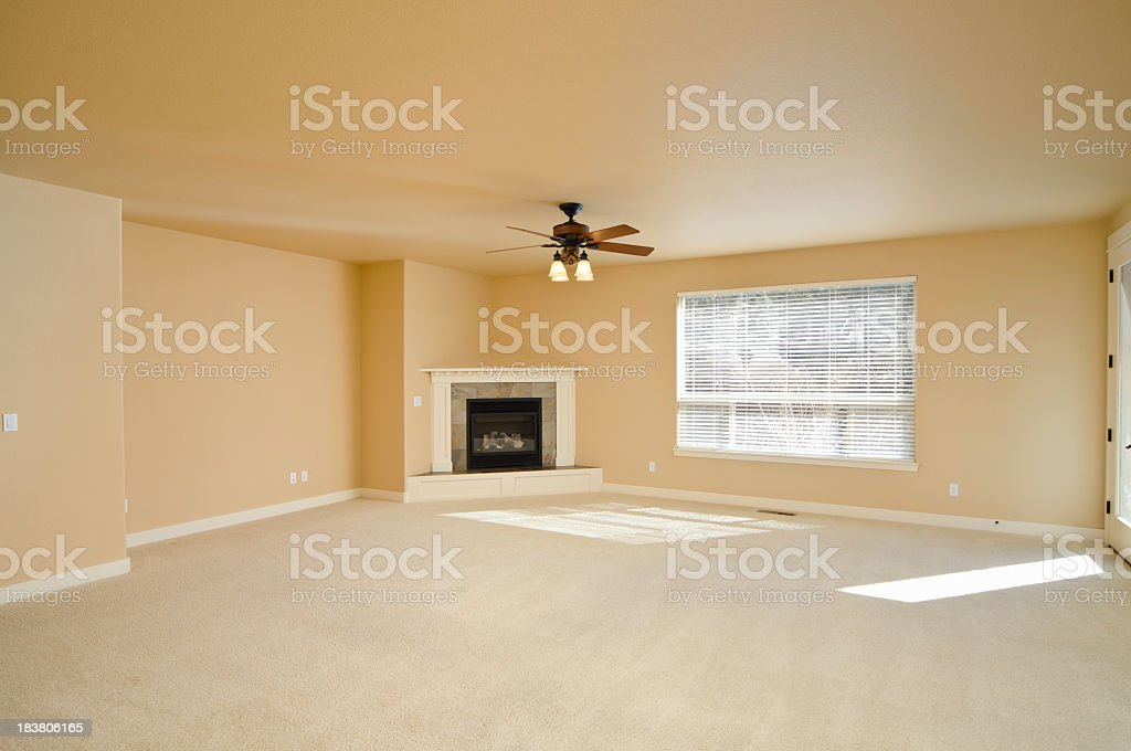Modern empty cream living room royalty-free stock photo