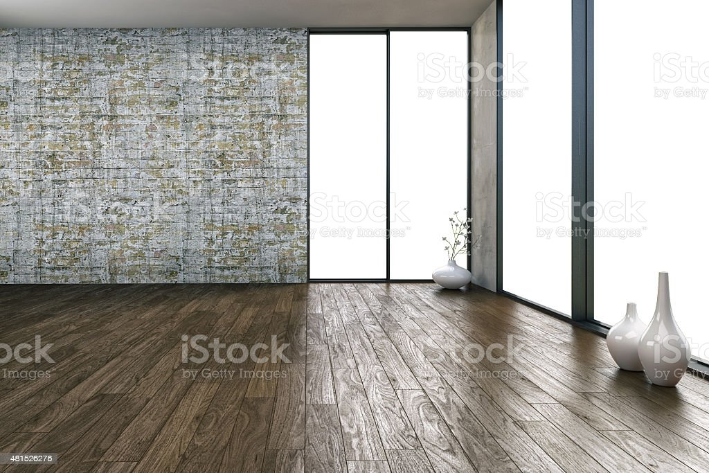 Modern empty Loft - Stock Image stock photo
