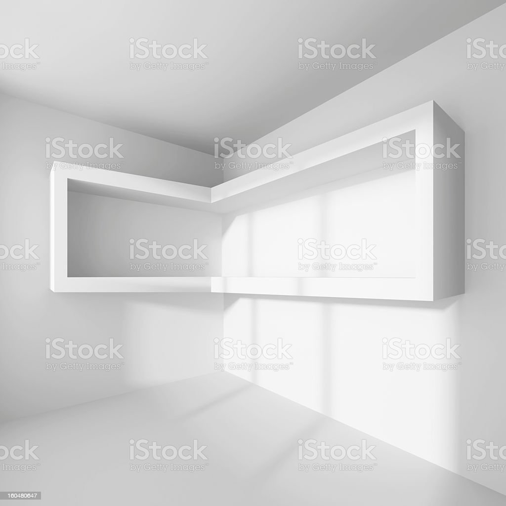Modern Empty Room royalty-free stock photo