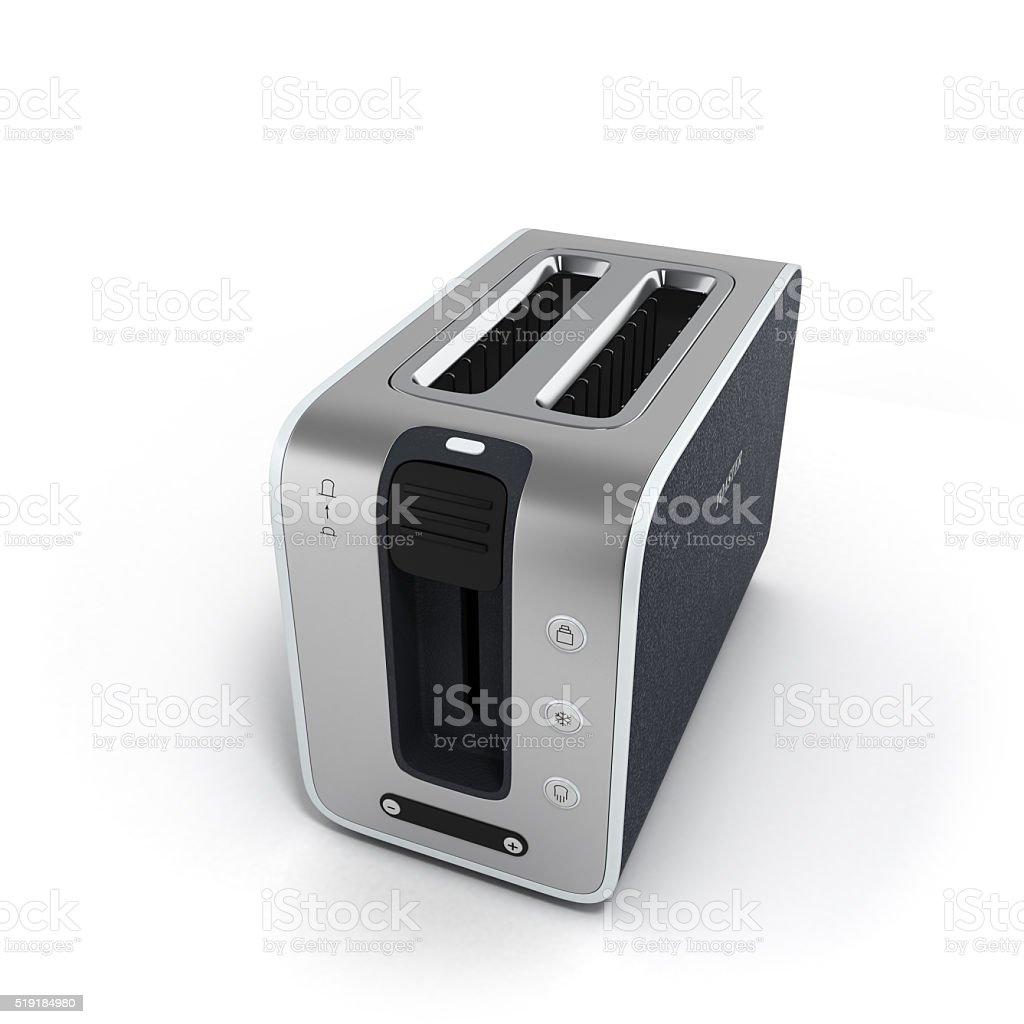modern empty toaster isolated on white background stock photo