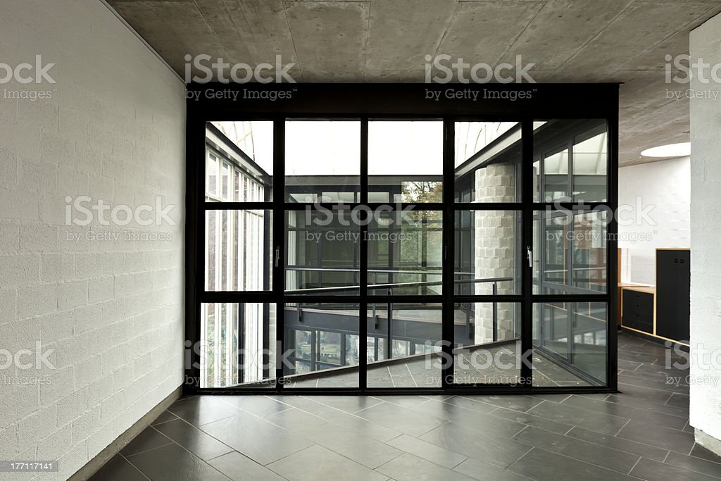 modern empty villa, large window royalty-free stock photo