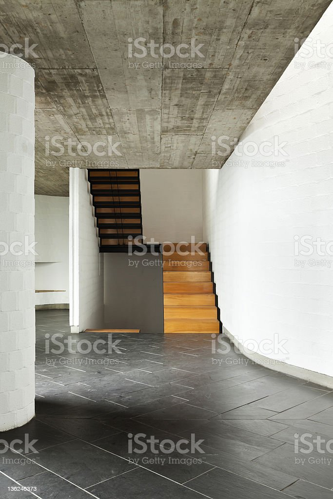 modern empty villa, passage royalty-free stock photo