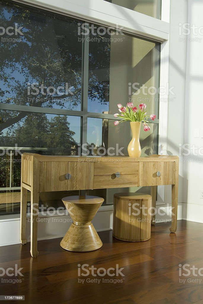 Modern End Table and Stools royalty-free stock photo