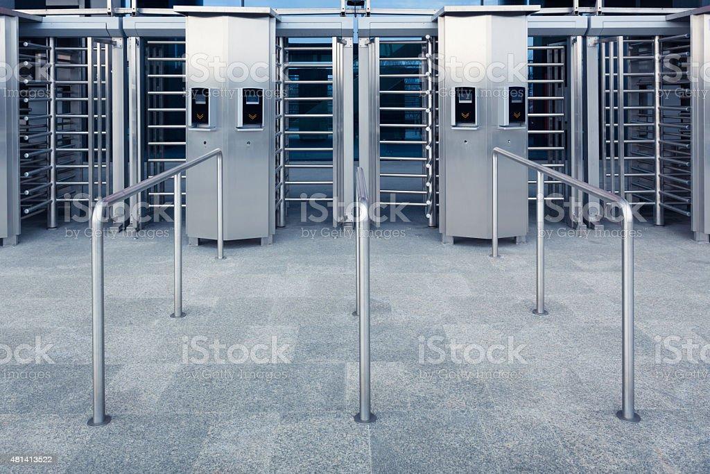 Modern entrance to a stadium stock photo