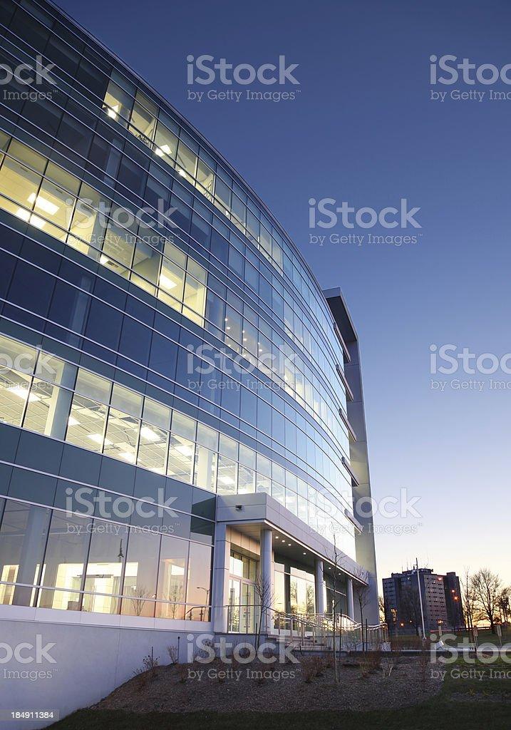 Modern Entreprise Exterior at Sunset royalty-free stock photo