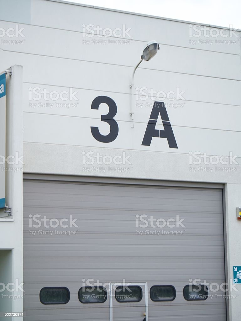 modern entry warehouse royalty-free stock photo