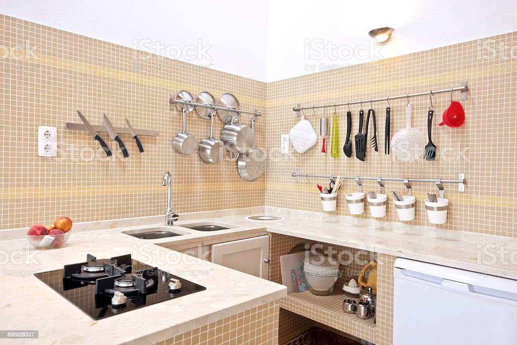 Modern equipped kitchen royalty-free stock photo