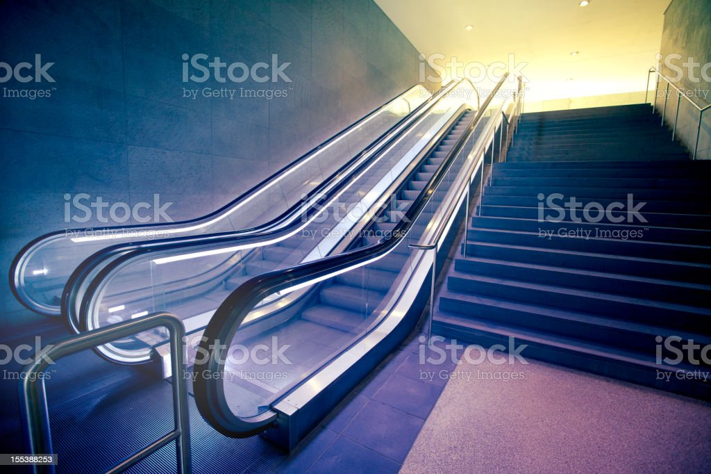 Modern escalator royalty-free stock photo