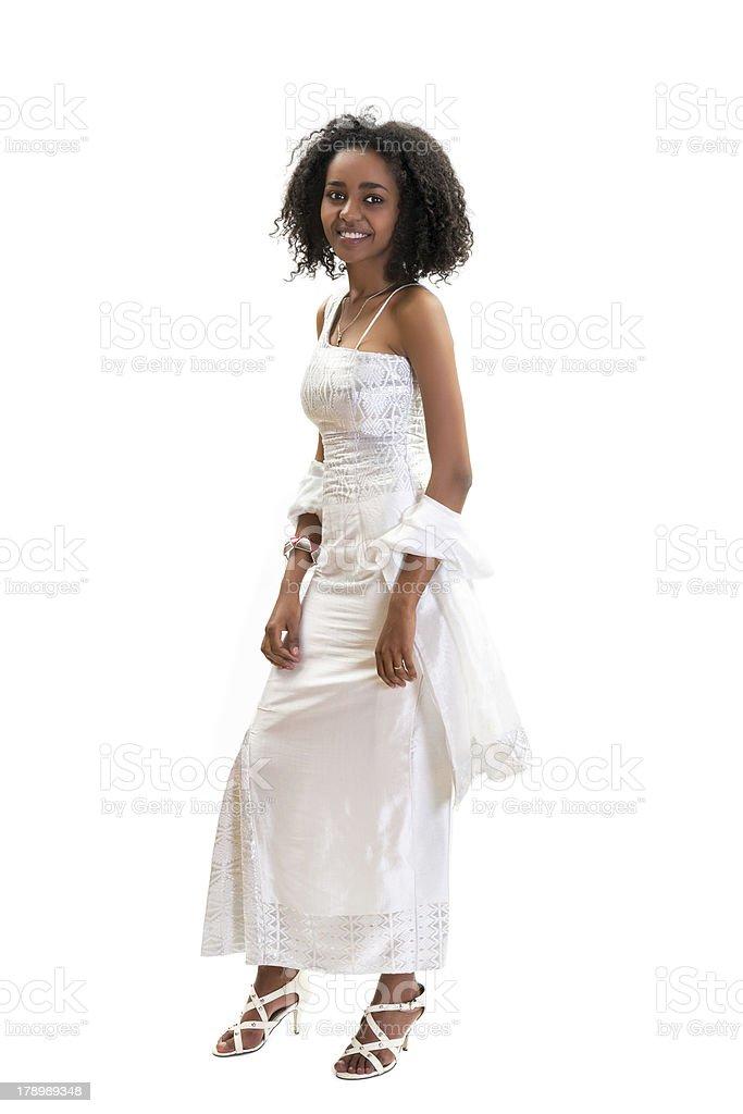 Modern Ethiopian dress royalty-free stock photo