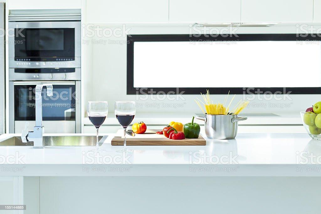 Modern european kitchen stock photo
