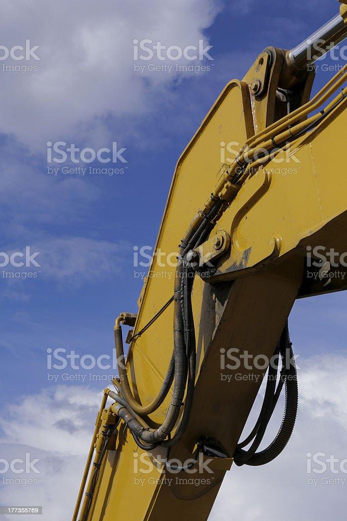 Modern excavator royalty-free stock photo