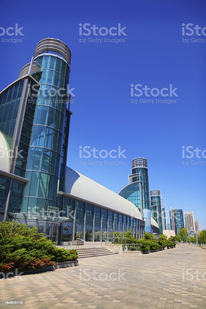 Modern Exhibition Place Building in Toronto stock photo