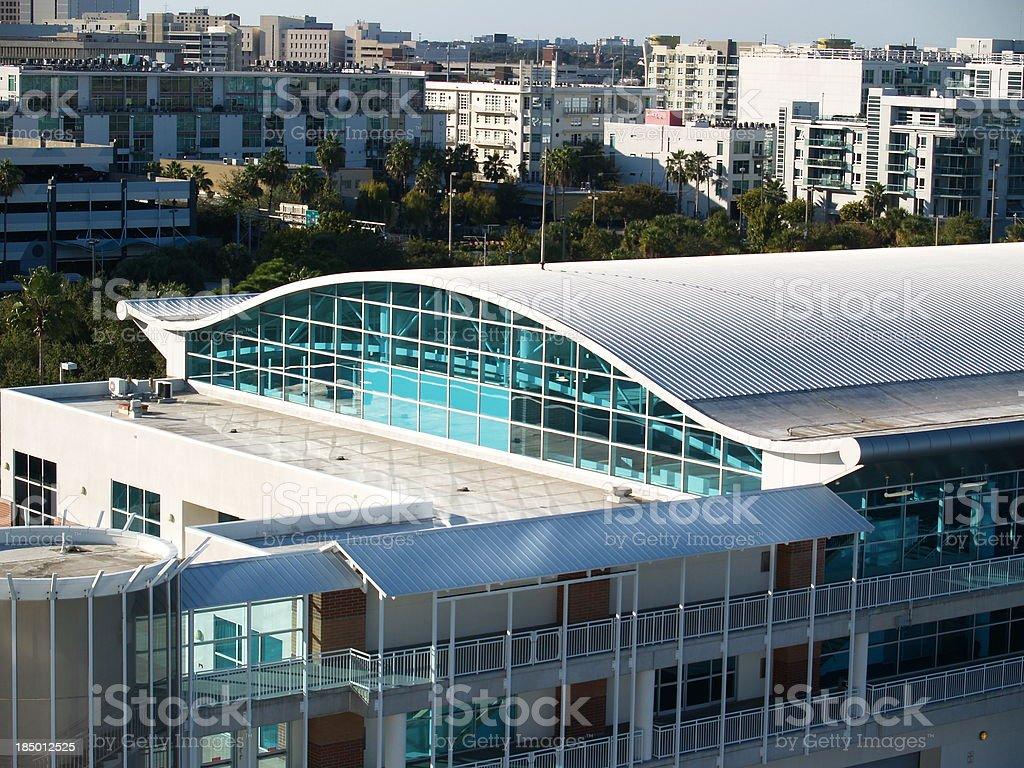 Modern Export Building stock photo