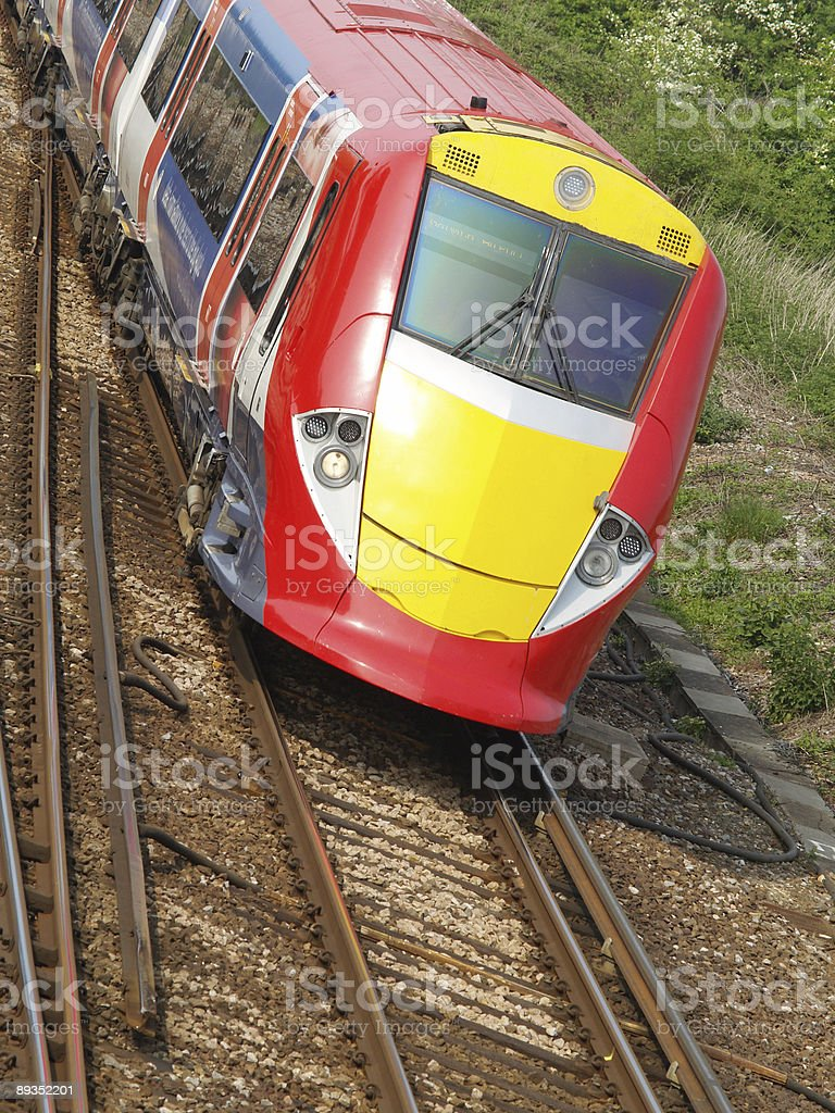 Modern Express stock photo