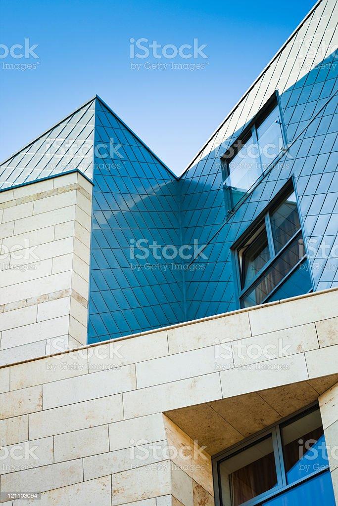 Modern facade detail stock photo