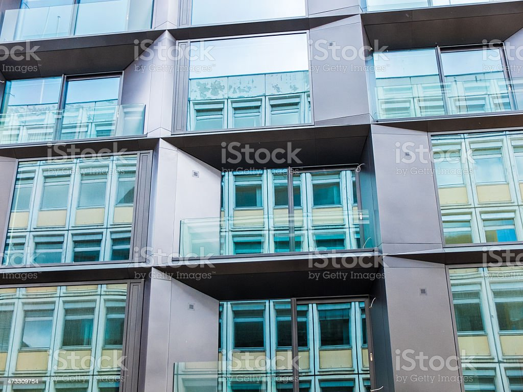 modern facade stock photo