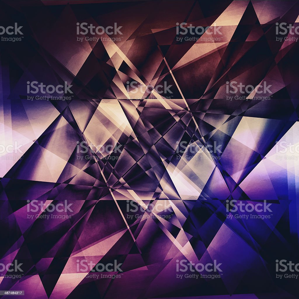 Modern facet background stock photo