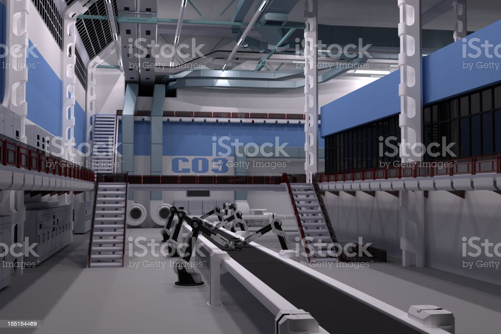 Modern factory royalty-free stock photo