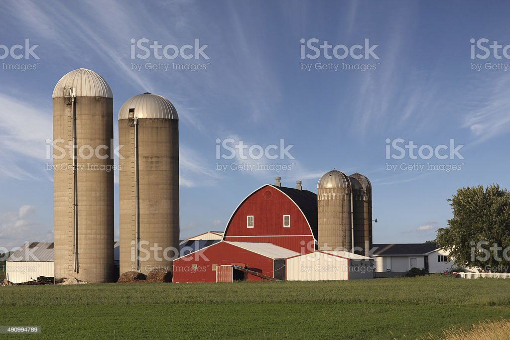 Modern Family Farm stock photo