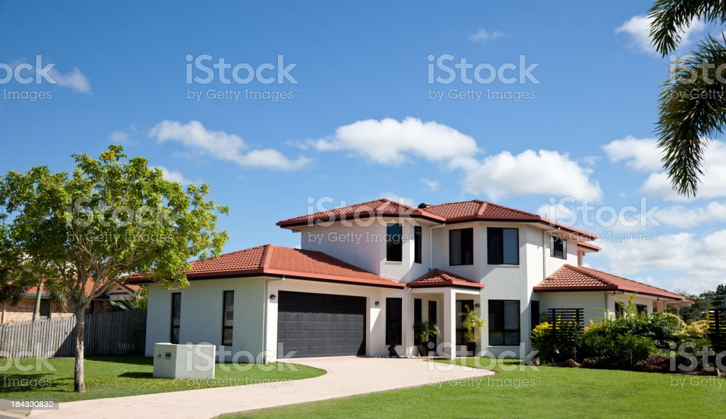 Modern Family Home Frontage royalty-free stock photo