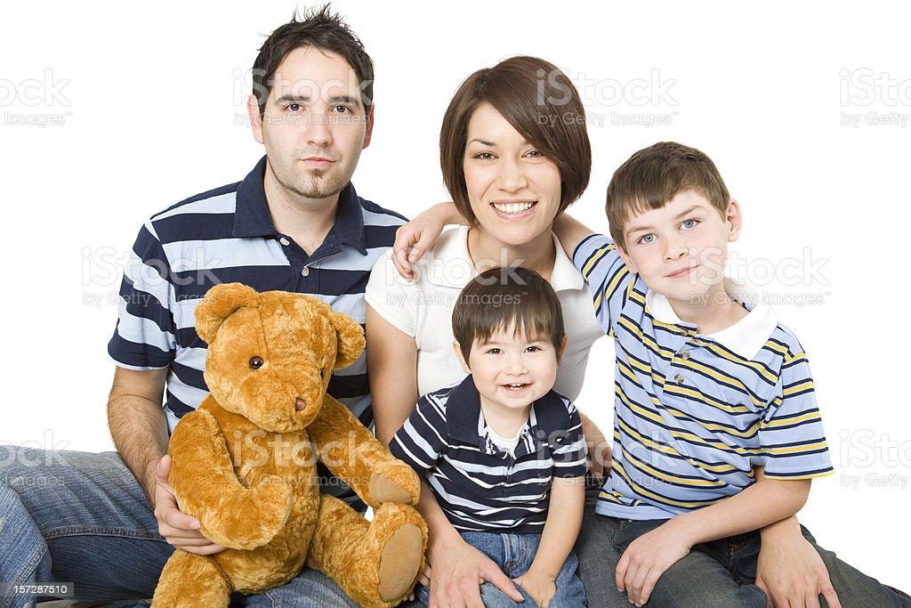 Modern Family royalty-free stock photo