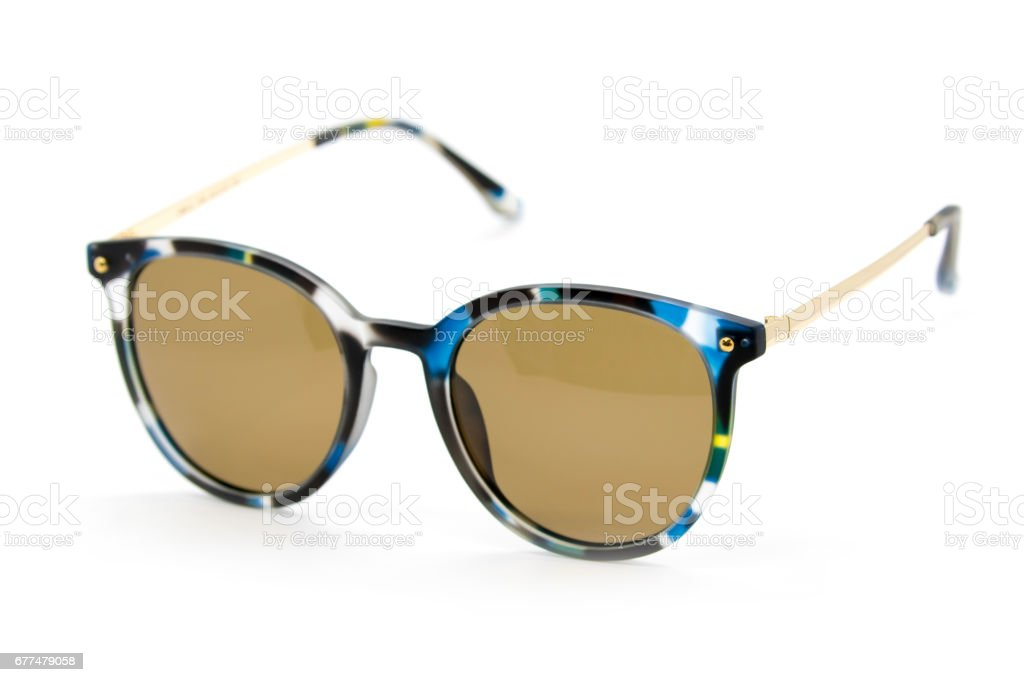 Modern fashionable sunglasses on white background, Glasses stock photo