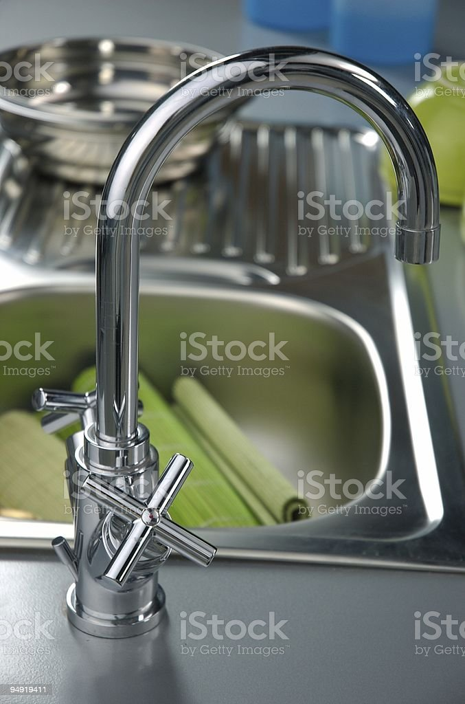 Modern faucet royalty-free stock photo