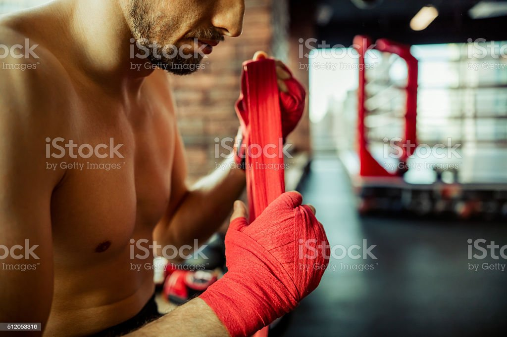 Modern fight club stock photo