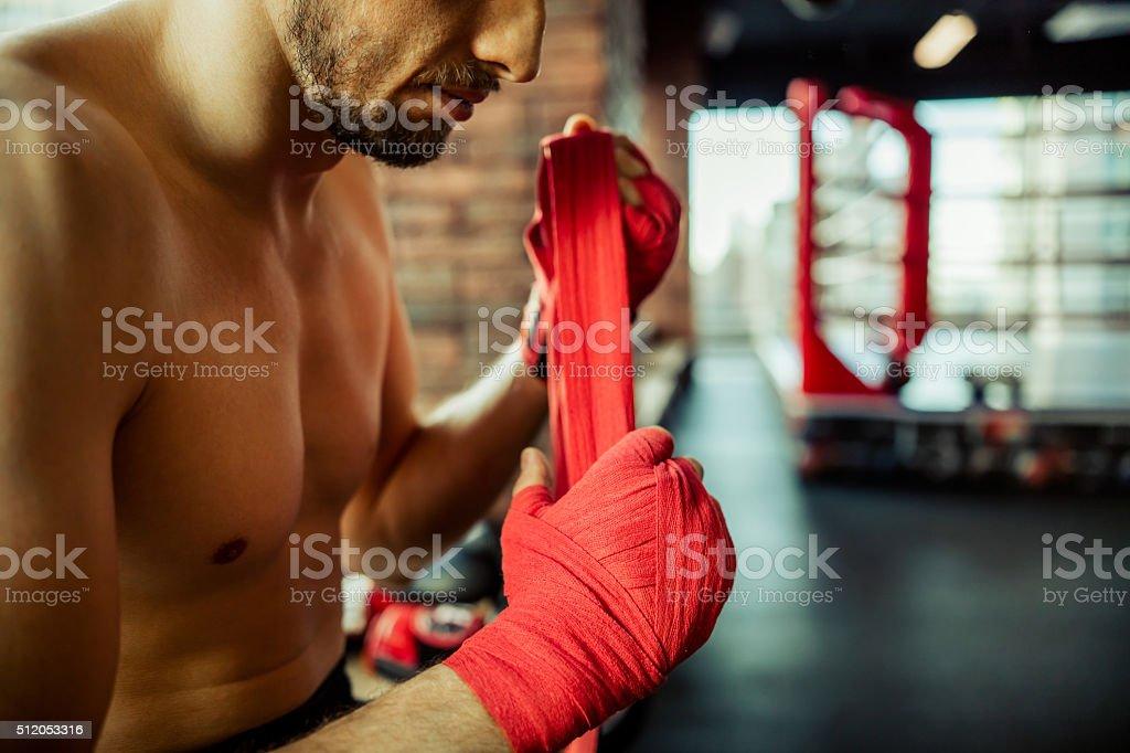 Modern fight club stock photo