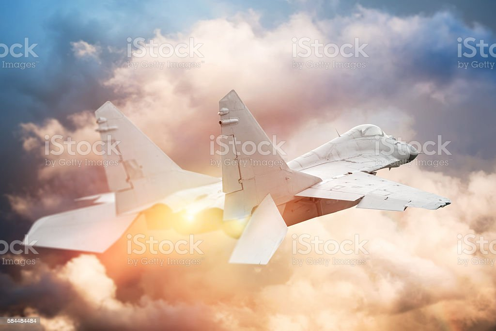 modern fighter sky with shallow depth of field stock photo