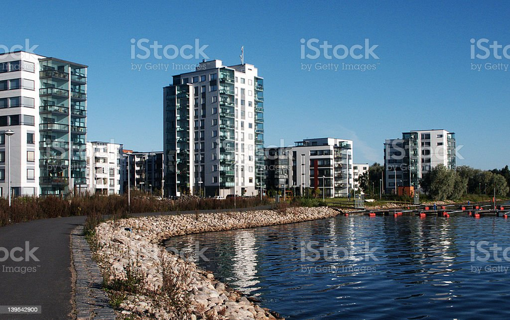 Modern Finnish flats royalty-free stock photo