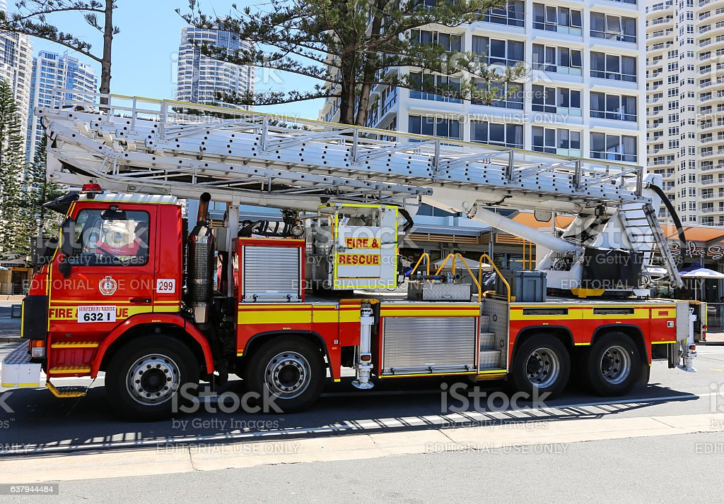 Modern fire engine stock photo
