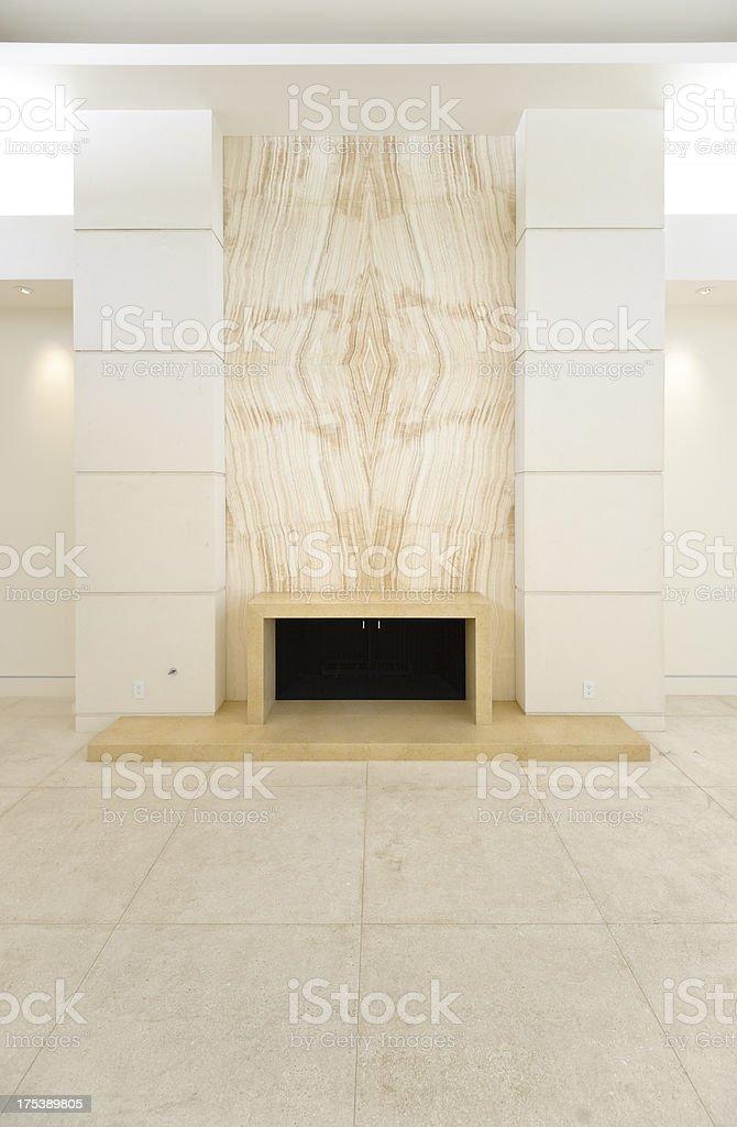modern fireplace stock photo