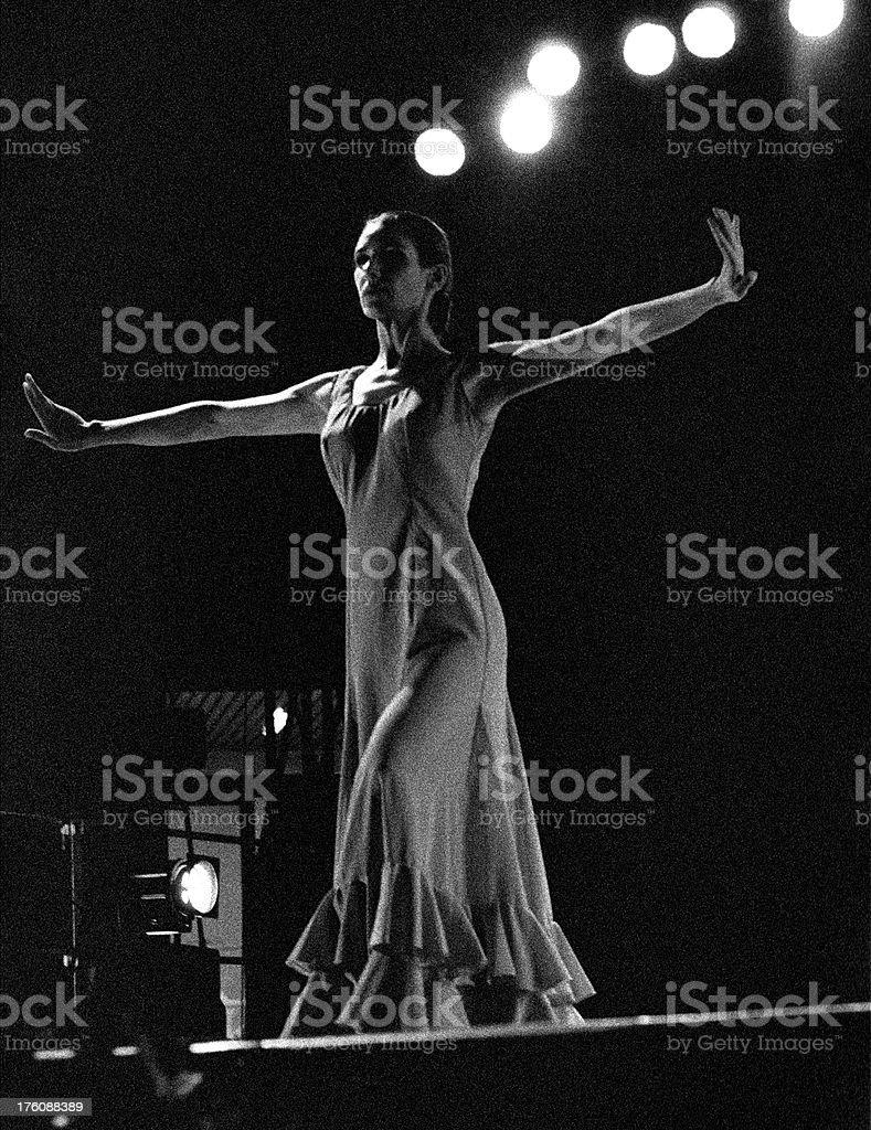 Modern flamenco dancer royalty-free stock photo