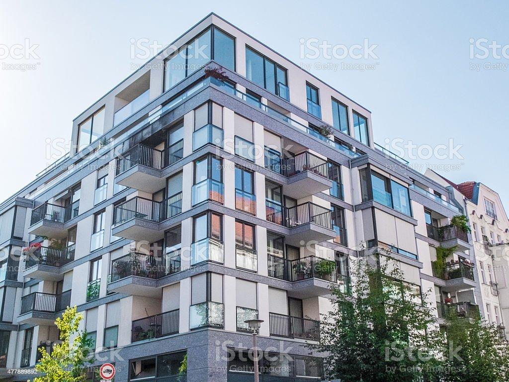 Modern flat at berlin stock photo