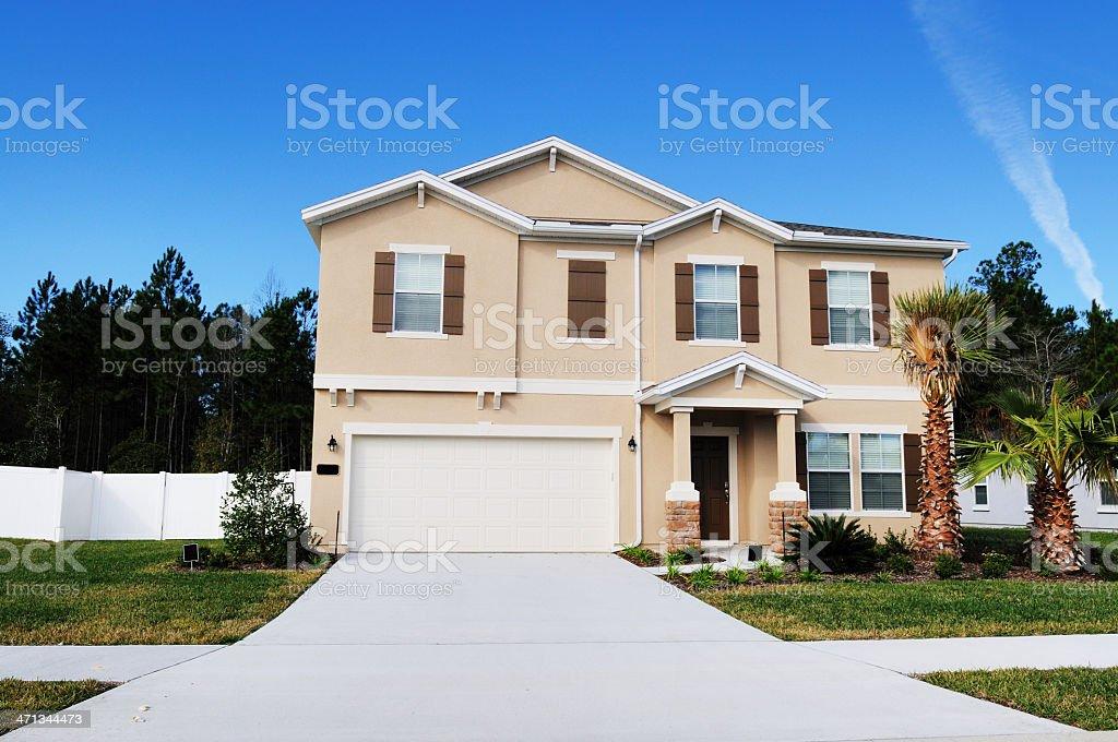 Modern Florida Real Estate Single Family Home royalty-free stock photo