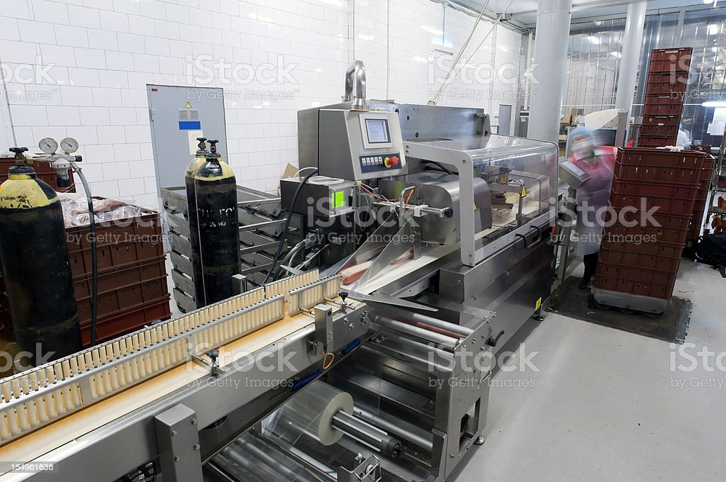 Modern Food Packaging Production Line royalty-free stock photo