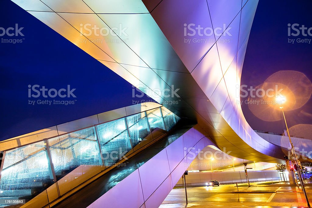 Modern Footbridge stock photo