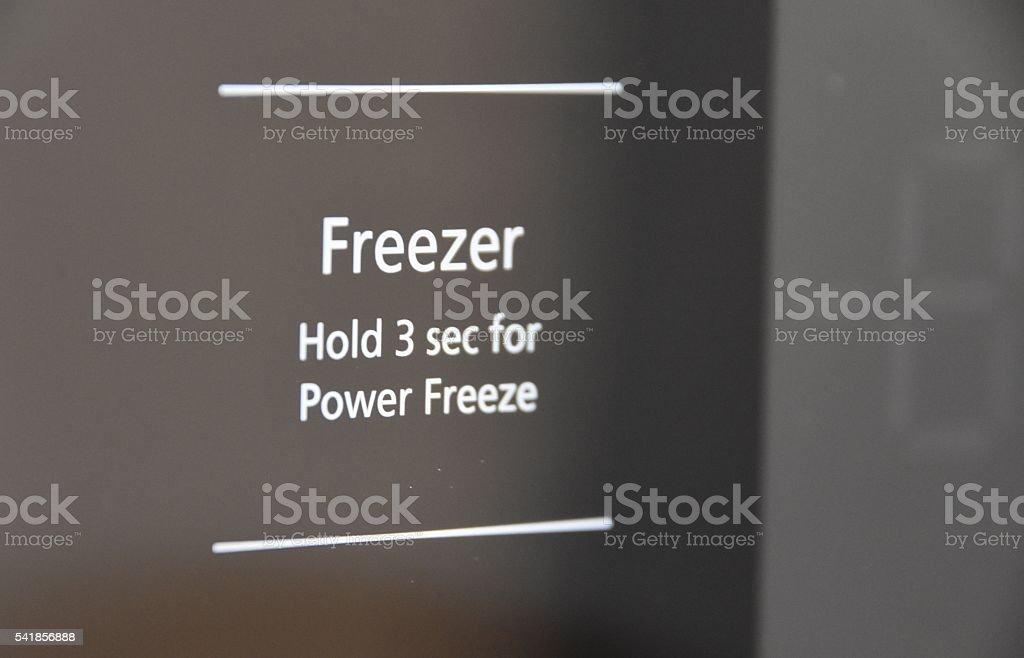 Modern freezer stock photo