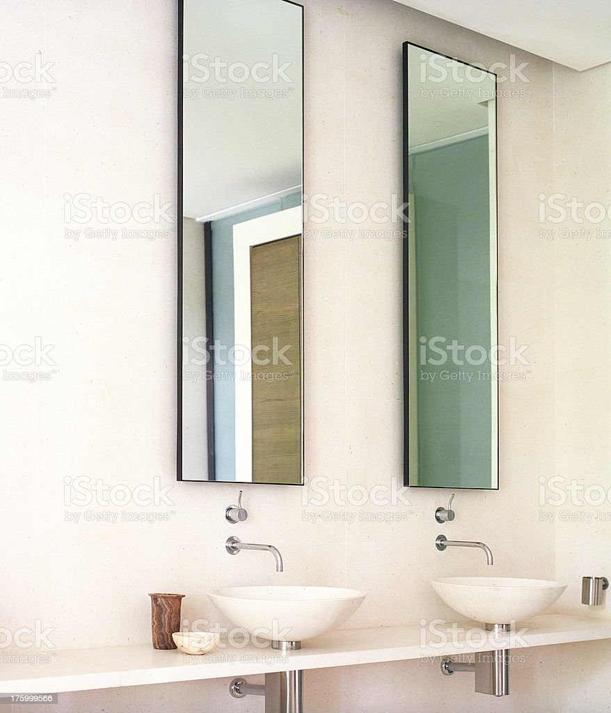 Modern French castle bathroom detail royalty-free stock photo