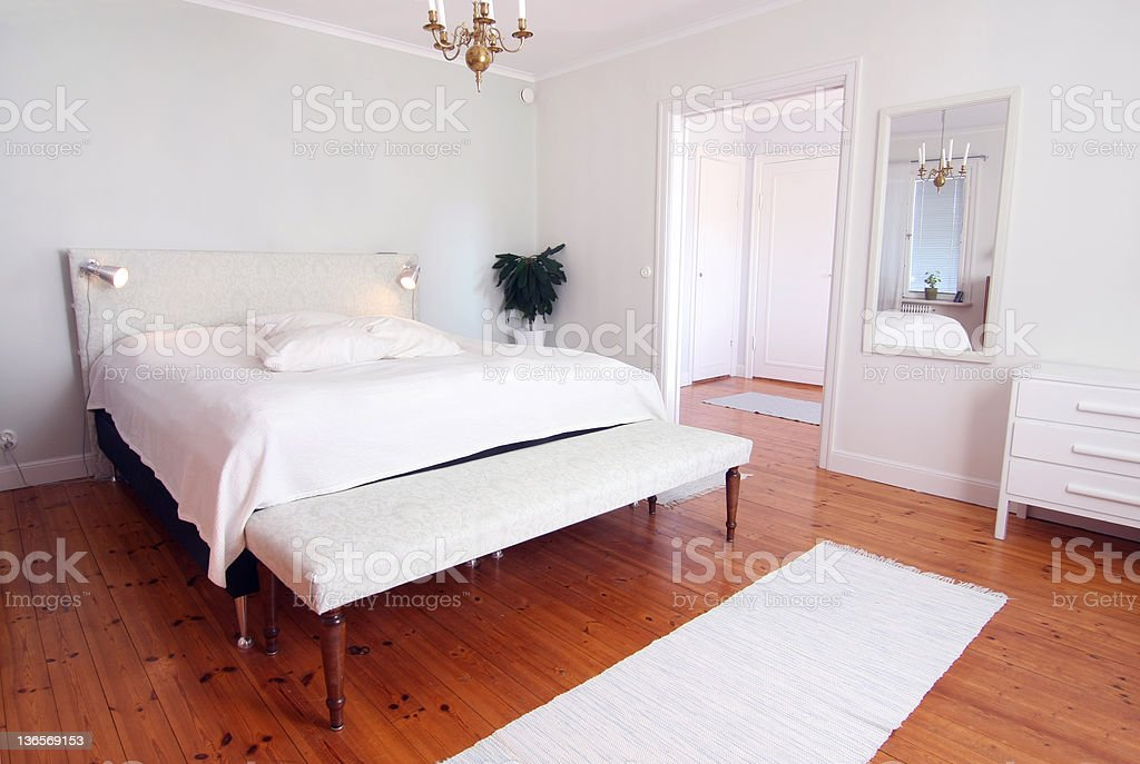 Modern Fresh Bedroom royalty-free stock photo