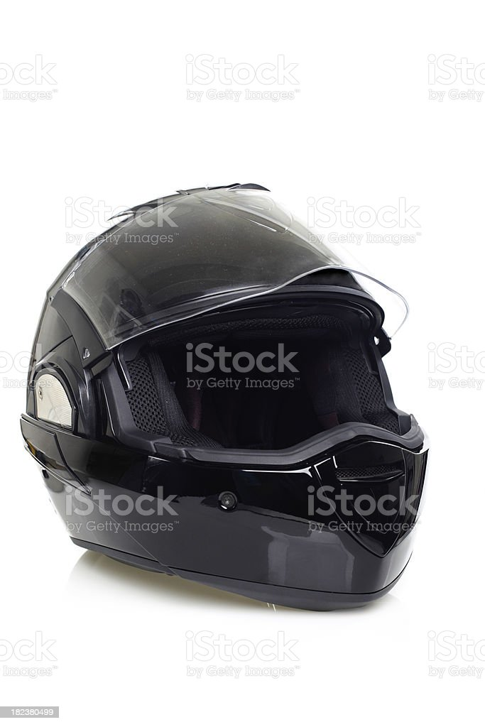Modern Full Face Motorbike Helmet royalty-free stock photo