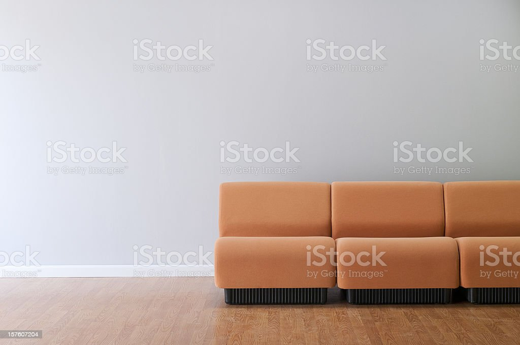 Modern Furniture In Empty Room stock photo