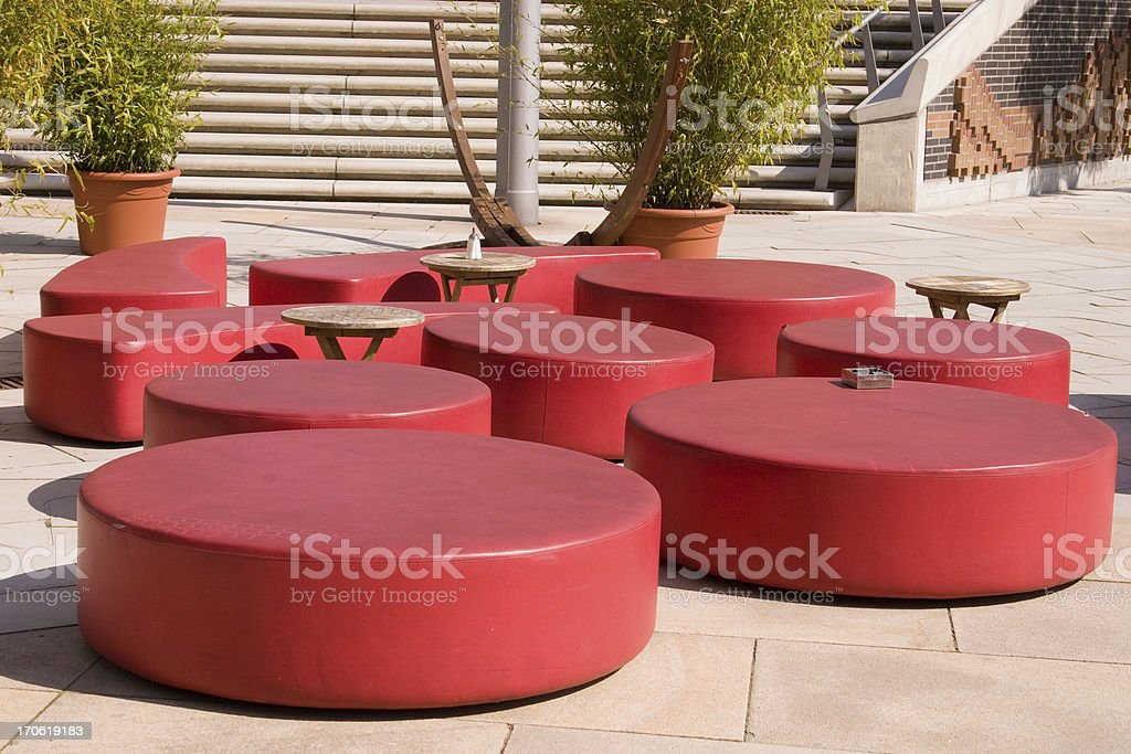 Modern furniture stock photo