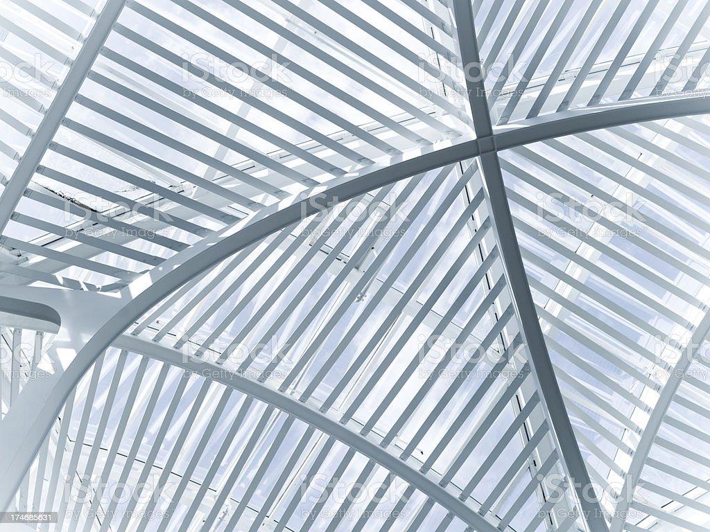 Modern futuristic building interior royalty-free stock photo