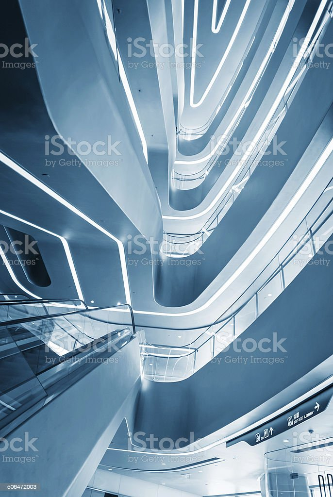 modern Futuristic building stock photo
