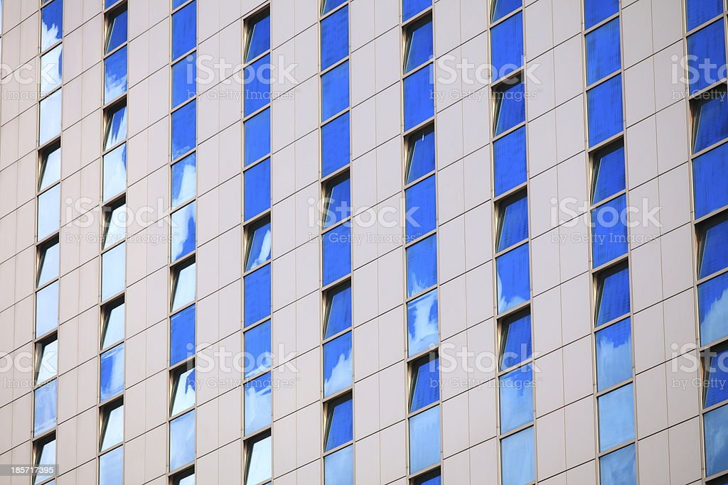 Modern futuristic business building in city royalty-free stock photo