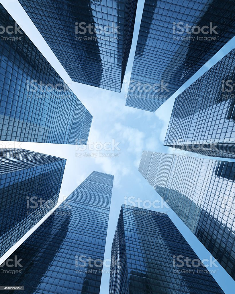 Modern futuristic commercial city Business concept of successful industrial stock photo